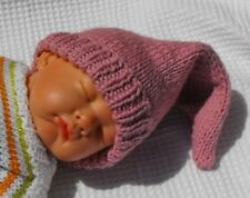 PRINTED KNITTING INSTRUCTIONS-BABY PINK PIXIE  ELF GNOME HAT KNITTING PATTERN