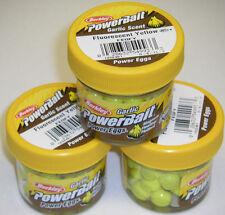 Berkley Powerbait GARLIC SCENT Power Eggs 3 pk FL Yellow FEGFY *NEW* ice fishing