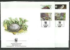 WWF 2004-Schildkröten/ Laos MiNr 1927/30 auf 4 FDC