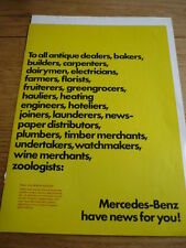 MERCEDES BENZ VANS L 407D/L409  Brochure 1976  jm