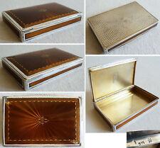 Superbe Boite tabatière en argent massif + email vers 1920 silver box enamel