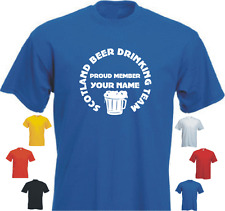 PROUD MEMBER SCOTLAND BEER...YOUR NAME new tshirt