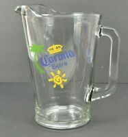 Vintage Corona Extra Glass Beer Pitcher 60 Ounces Heavy Duty