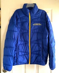 GOLDEN STATE WARRIORS GIII BY CARL BANKS INSULATED JACKET LARGE