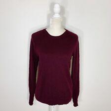 Equipment Femme Dark Eggplant Purple 100% Cashmere Crew Neck Pullover Sweater S