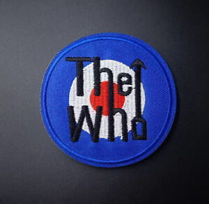 """The Who Music Rock Band Patch Embroidered Iron On Appliqué 3"""" x 3"""""""