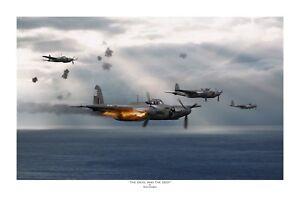 """WWII WW2 RAF De Havilland Mosquito Aviation Art Photo Print - 12"""" X 18"""""""