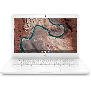 HP 14 Touchscreen Chromebook AMD A4 4GB RAM 32GB eMMC Snow White