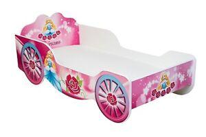 Kinderbett für Prinzessin mit Matratze und Lattenrost Jugendbett 140x70 160x80