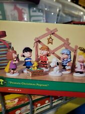 New ListingDept 56 Peanuts Christmas Pageant Nativity Set of 8 Figures 802162 Original Box