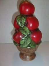 "9"" Ceramic Handmade Apple Centerpiece"