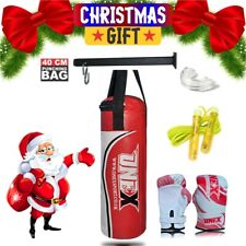 New Heavy Filled Punch Bag,Boxing Gloves,Bracket Christmas Kick Junior/Kids Set