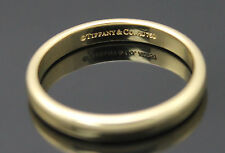 ICONIC AUTHENTIC TIFFANY & CO 750 18K YELLOW GOLD WEDDING BAND RING SIZE 8.25