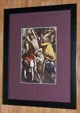"""Incorniciato 12"""" x16"""", El Greco, Temple PULIZIA, i comandanti dipinti, BIBBIA DIPINTI"""