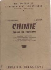 CHIMIE, Bb de l'enseignement scientifique, par PASTOURIAUX et LIGNON,  DELAGRAVE