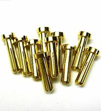 C0407x10 RC Connector 4mm 4.0mm Gold Plated Male Bullet Banana x 10