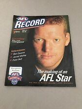 AFL 2001 Football Record Collingwood V Richmond Round 4