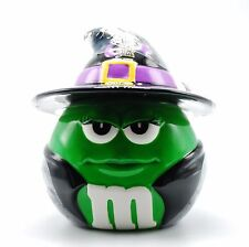 M&M Halloween Cookie Jar Green w/ Black Witch Costume Mars Candy by Galerie