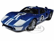 1966 FORD GT-40 MK 2 BLUE #2 DIECAST CAR MODEL 1/18 SHELBY COLLECTIBLES SC401