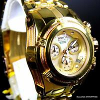 Womens Invicta Reserve Bolt Zeus Gold Plated Steel Chronograph MOP Watch New