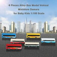 6 Pieces Alloy Bus Model Vehical Miniature Damara for Baby Kids 1:150 Scale S6L0