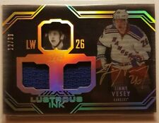 2016-17 UD Black Jimmy Vesey Gold Lustrous Ink 12/99