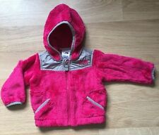 The North Face Full Zip Fleece Jacket Baby Toddler Size 3-6 Months Pink Gray