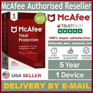 McAfee Total Protection 2021 Antivirus 5Year 1 Device For Win, Mac, Android, iOS