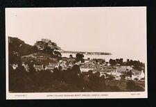 Channel Islands Jersey GOREY Village  Mont Orgueil Castle c1920/30s? RP PPC Foot