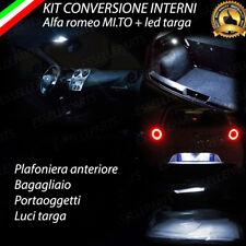 KIT FULL LED INTERNI ALFA ROMEO MITO + LED TARGA CANBUS LUCE BIANCA NO ERROR