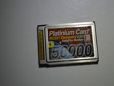 WORKING - PLATINIUM CARD MC221 56000 MODEM 16BIT LAPTOP PCMCIA CARD UK SELLER