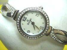 BULOVA 96L115 LADIES CASUAL WATCH STAINLESS ST CRYSTALS BEZEL & MOTHER OF PEARL