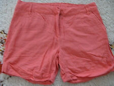 Modische High Waist Shorts, Leinen Shorts Gr 36 rosa. Top!!!