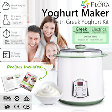 Flora Greek Yogurt Maker 2L Automatic Yoghurt Rice Wine DIY Food Grade Machine