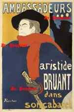 Vintage French Poster Toulouse-Lautrec Ambassadeurs Aristide Bruant Print Art