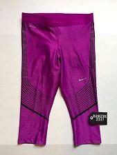 Nike Power Speed Women's Purple Running Capri 801694-556 Size S