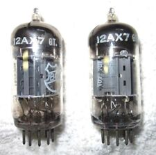 Matched Pair of Vintage Mullard Blackburn 12AX7 / ECC83 Vacuum Tubes