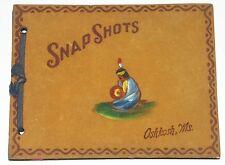 Vintage Photo Album Leather & Suede  Souvenir Small Oshkosh Wisconson 1930's