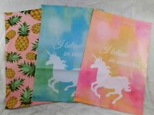 30 10x13 Designer Unicorn Pineapple Mailer Poly Shipping Envelope Boutique Bag