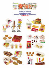 Re-ment #53 Tabe Aruki miniature food ice cream burger snack OPEN box of 6- SALE