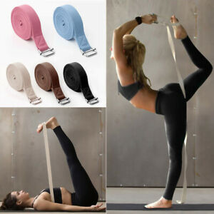 2.5M Women Adjustable Buckle Yoga Stretching Band Strap  Exercise Belts Sports