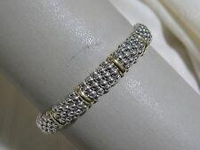Designer LAGOS S/S 18K 9MM Signature Caviar Rope Bracelet