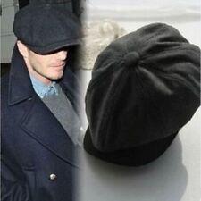 Mens Vintage Cabbie Newsboy Cap Wool Beret Golf Driving Sun Flat Hat Fashion AU