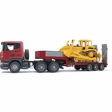 Scania R Series Low loader Truck with CAT Bulldozer - Bruder Lorry 03555