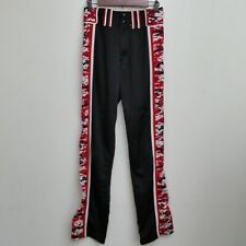 Boombah Mens Baseball Pants Red Black Stripe Geometric