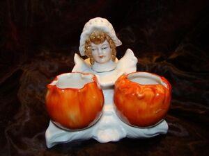 Sel Poivre Figurine Cuisiniere Potiron Style Art Deco-allemand Style Art Nouveau