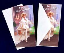 1994 Barbie Hallmark Two (2) Money Holder Christmas Cards & Envelopes Unused