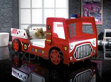 Children Boys Kids 3'0 Single Red Fire Engine Car Bed - LED Lights