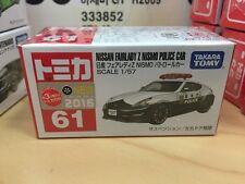 1/57 TOMICA 61 NISSAN FAIRLADY Z 370Z NISMO JAPAN POLICE CAR toy Hotwheels size