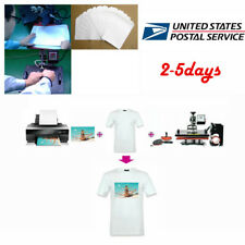 Best 50Pcs T-Shirt Print Iron-On Heat Transfer Paper Sheets For Dark/Light Cloth